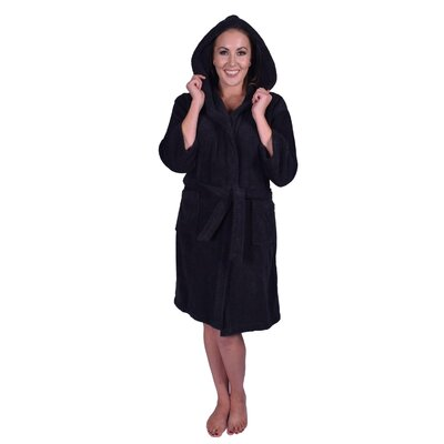 Teenager Petite Bathrobe Color: Black