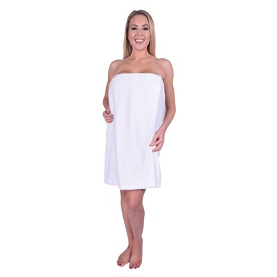 Solid Terry Spa Body Wrap Color: White