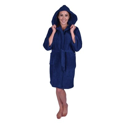 Teenager Petite Bathrobe Color: Navy Blue