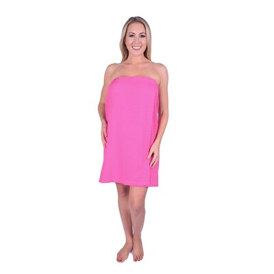 Solid Terry Waffle Spa Body Wrap Color: Hot Pink