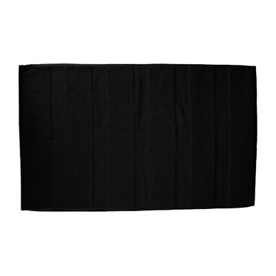 Pettitt Loop Terry Cotton Bath Rug Color: Black