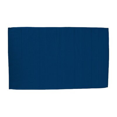 Pettitt Loop Terry Cotton Bath Rug Color: Navy Blue