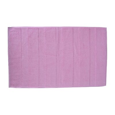Pettitt Loop Terry Cotton Bath Rug Color: Pink