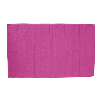 Pettitt Loop Terry Cotton Bath Rug Color: Hot Pink