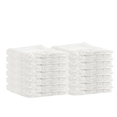 Premium Cotton Wash Cloth Color: White