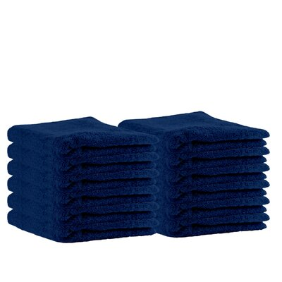Premium Cotton Wash Cloth Color: Navy Blue