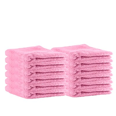 Premium Cotton Wash Cloth Color: Pink
