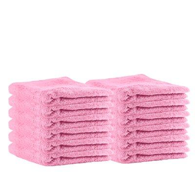 Premium Cotton Wash Cloth Color: Pink