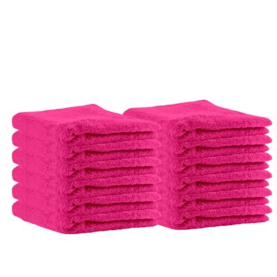 Premium Cotton Wash Cloth Color: Hot Pink