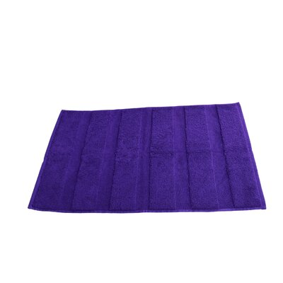 Pettitt Loop Terry Cotton Bath Rug Color: Purple