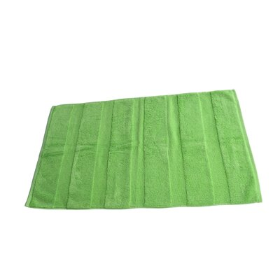 Pettitt Loop Terry Cotton Bath Rug Color: Lime Green