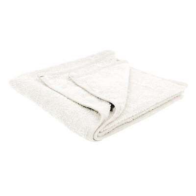 Solid Soft Cotton Bath Sheet Color: White