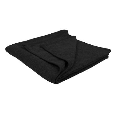 Solid Soft Cotton Bath Sheet Color: Black