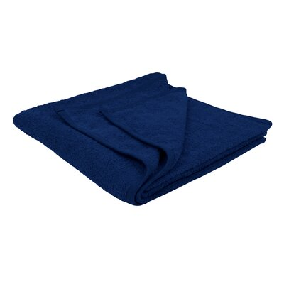 Solid Soft Cotton Bath Sheet Color: Navy Blue