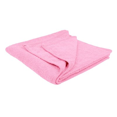 Solid Soft Cotton Bath Sheet Color: Pink