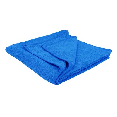 Solid Soft Cotton Bath Sheet Color: Aqua Blue