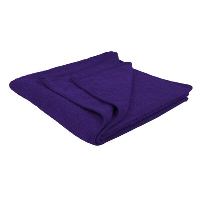 Solid Soft Cotton Bath Sheet Color: Purple