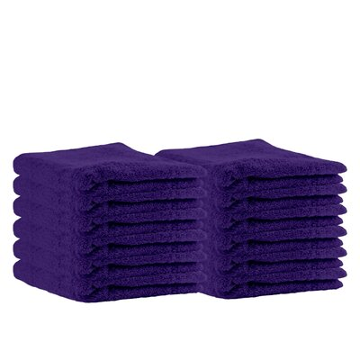 Premium Cotton Wash Cloth Color: Purple