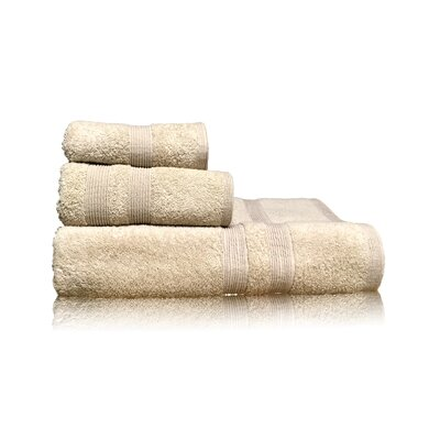 Luxury 3 Piece Towel Set Color: Sand