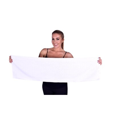 Solid Premium Gym/Fitness Towel Color: White