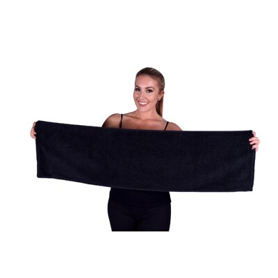 Solid Premium Gym/Fitness Towel Color: Black
