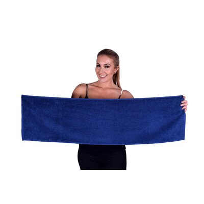 Solid Premium Gym/Fitness Towel Color: Navy Blue