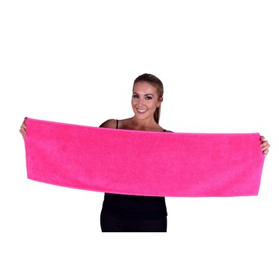 Solid Premium Gym/Fitness Towel Color: Hot Pink