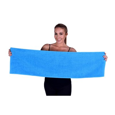 Solid Premium Gym/Fitness Towel Color: Aqua Blue