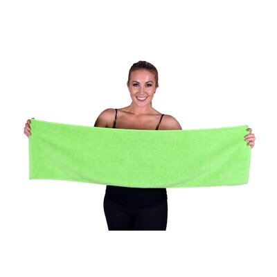 Solid Premium Gym/Fitness Towel Color: Lime Green