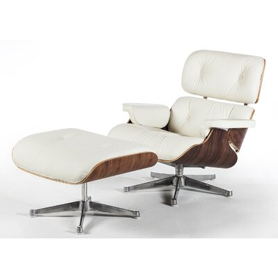 Restrepo Mid Century Lounge Chair and Ottoman