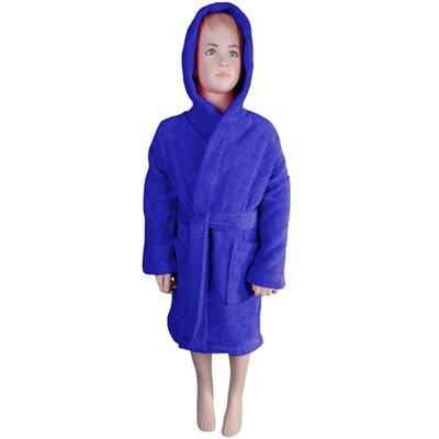 Falbo Hooded Kids Bathrobe Color: Navy Blue