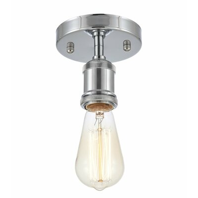 Draughn 1-Light Semi Flush Mount Fixture Finish: Chrome