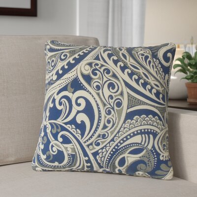 Milano Damask Throw Pillow Color: Navy