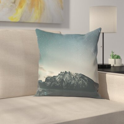 Luke Gram Lake Minnewanka Alberta Ii Throw Pillow Size: 16 x 16