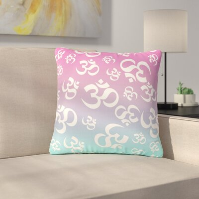 Ohm My Outdoor Throw Pillow Size: 18 H x 18 W x 5 D