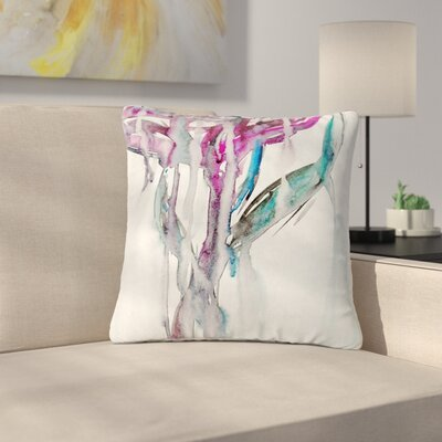 Malia Shields Lovely Flower Floral Outdoor Throw Pillow Size: 16 H x 16 W x 5 D