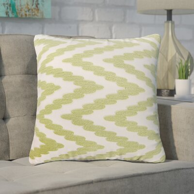 Hambrick 100% Cotton Throw Pillow Color: Green