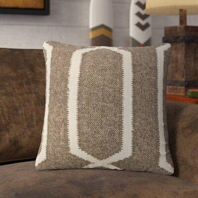 Lillard Wool Throw Pillow Color: Linen