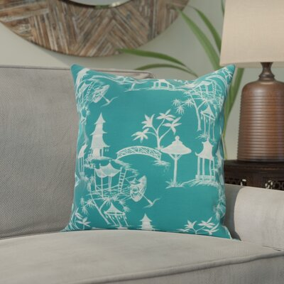 Crader Throw Pillow Color: Blue, Size: 26 x 26