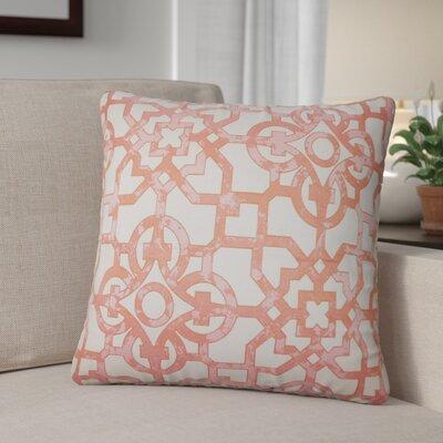 Hammer Geometric Throw Pillow Color: Geranium