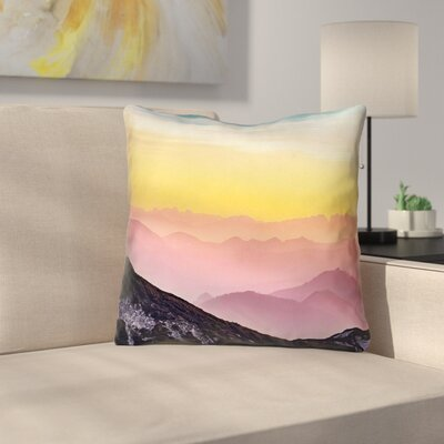 Thang Pastel Landscape Double Sided Print Throw Pillow with Insert Size: 18 x 18