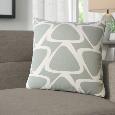 Cherish Geometric Cotton Throw Pillow Color: Light  Gray