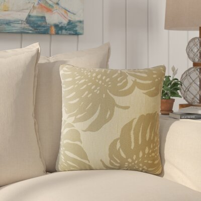 Maiah Floral Down Filled Throw Pillow Size: 18 x 18, Color: Driftwood