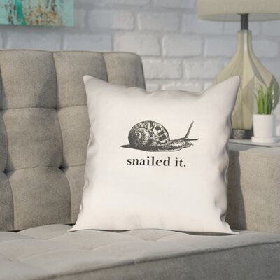 Pecora Snailed It Outdoor Throw Pillow Size: 18 x 18