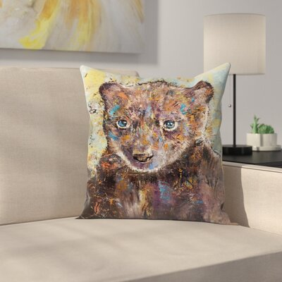 Michael Creese Baby Bear Throw Pillow Size: 18 x 18