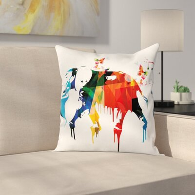 Removable Graphic Print Square Pillow Cover Size: 24 x 24