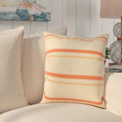 Jasper 100% Cotton Throw Pillow Color: Orange