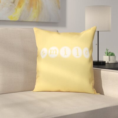 Sperber Throw Pillow Size: 18 H x 18 W, Color: Yellow
