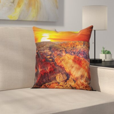 American Case Grand Canyon Horizon Square Pillow Cover Size: 24 x 24