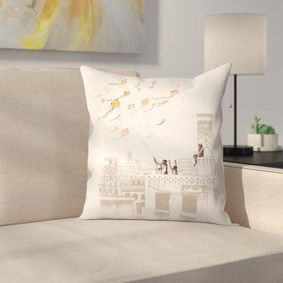 Komal Throw Pillow Size: 14 x 14
